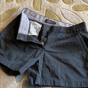 """Jcrew 5"""" charcoal chino shorts"""
